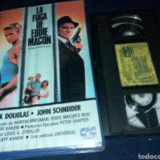 Cine: LA FUGA DE EDDIE MACON- VHS- KIRK DOUGLAS- JOHN SCHNEIDER- DESCATALOGADA. Lote 133958957