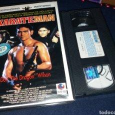 Cine: KARATE MAN- VHS- DON DRAGON WILSON. Lote 175021710