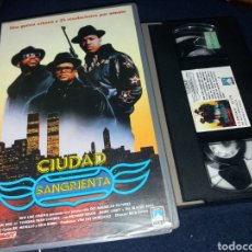 Cine: CIUDAD SANGRIENTA- VHS- DIR: RICK RUBIN- PANDILLEROS- RUM DMC- RAPEROS. Lote 133973771