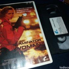 Cine: TERMINATOR WOMAN- VHS- DIR: DUNCAN GIBBINS- SCIFI- ROBOTS. Lote 133974227