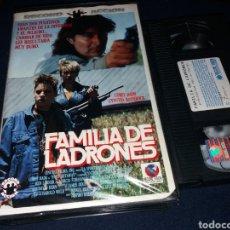 Cine: FAMILIA DE LADRONES- VHS- COREY HAIM - CYNTHIA ROTHROCK- DESCATALOGADA. Lote 133974433