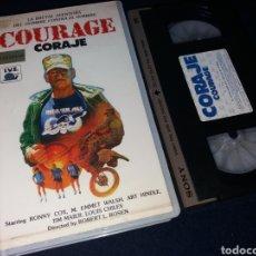 Cine: CORAJE- VHS- DIR: ROVERT L. ROSEN- BIKER MOVIE. Lote 133974935