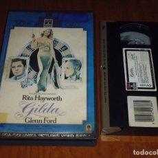 Cine: GILDA . RITA HAYWORT - VHS CAJA GRANDE EDICION VIDEOCLUB. Lote 134153626