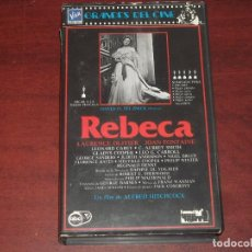 Cine: VHS - REBECA -LAURENCE OLIVER - JOAN FONTAINE - VIDEO. Lote 134303286