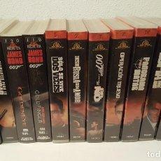 Cine: LOTE 11 PELÍCULAS VHS JAMES BOND. Lote 134534442