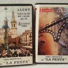 Cine: ALCOY - VIDEO-REPORTAJE - LA FESTA - VHS / 1986 Y 1999. Lote 134537014