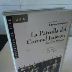 Cine: 43-VHS LA PATRULLA DEL CORONEL JACKSON, BACK TO BATAAN, JOHN WAYNE.. Lote 134550938