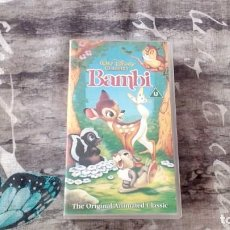 Cine: DISNEY CLASSICS BAMBI - ORIGINAL - HOLOGRAMS - PAL D209422 - 1994 - UK. Lote 135404058