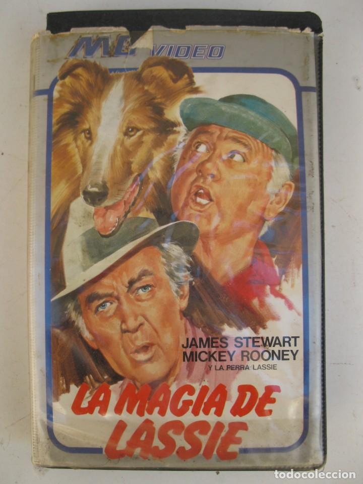 LA MAGIA DE LASSIE - PELÍCULA EN VHS - JAMES STEWART - MICKEY ROONEY. (Cine - Películas - VHS)