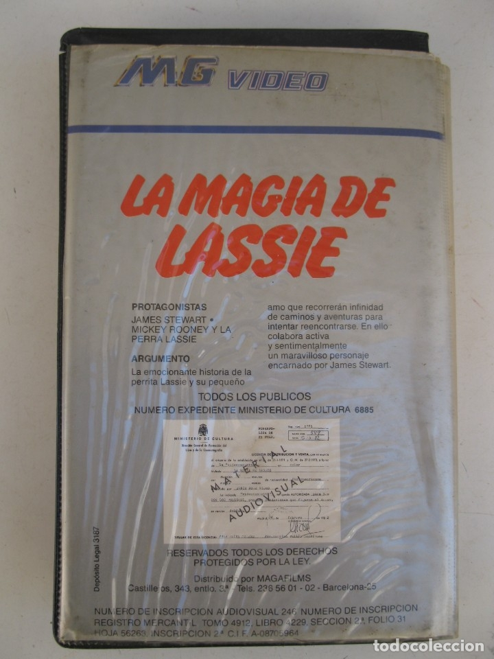 Cine: LA MAGIA DE LASSIE - PELÍCULA EN VHS - JAMES STEWART - MICKEY ROONEY. - Foto 3 - 135663163