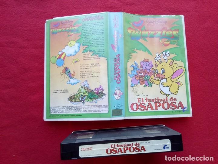 TUBAL EL FESTIVAL DE OSAPOSA WUZZLES WALT DISNEY VHS 600 GRS (Cine - Películas - VHS)