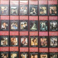 Cine: SERIE ''LAS AVENTURAS DE SHERLOCK HOLMES'' - COLECCIÓN DE 26 CAPÍTULOS (VHS) - PLANETA DEAGOSTINI. Lote 136526354