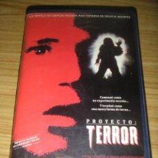 Cine: PROYECTO: TERROR (1988) VHS - TERROR - DEAN KOONTZ. Lote 136526418