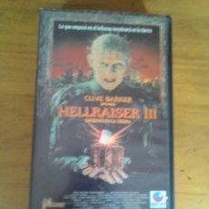 Cinéma: HELLRAISER III - VHS. Lote 136686490