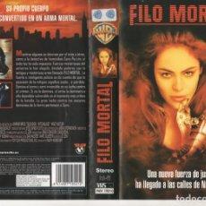 Cine: VHS - FILO MORTAL - SCFI. Lote 136727618
