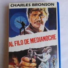 Cine: VHS - AL FILO DE MEDIANOCHE - CHARLES BRONSON, J. LEE THOMPSON - THRILLER, ASESINOS EN SERIE. Lote 136868210