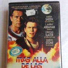 Cine: VHS - MAS ALLA DE LAS ESTRELLAS - MARTIN SHEEN, CHRISTIAN SLATER, SHARON STONE, DAVID SAPERSTEIN. Lote 137105326