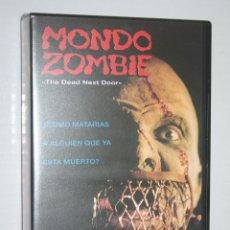 Cine: MONDO ZOMBIE *** VHS TERROR / GORE *** GORGOM VIDEO (1999). Lote 137116694