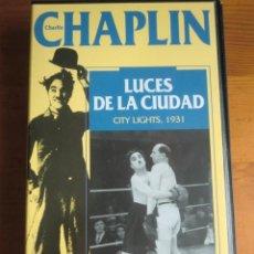Cine: VHS LUCES DE LA CIUDAD (1931) DE CHARLES CHAPLIN. COMO NUEVA. Lote 137783082