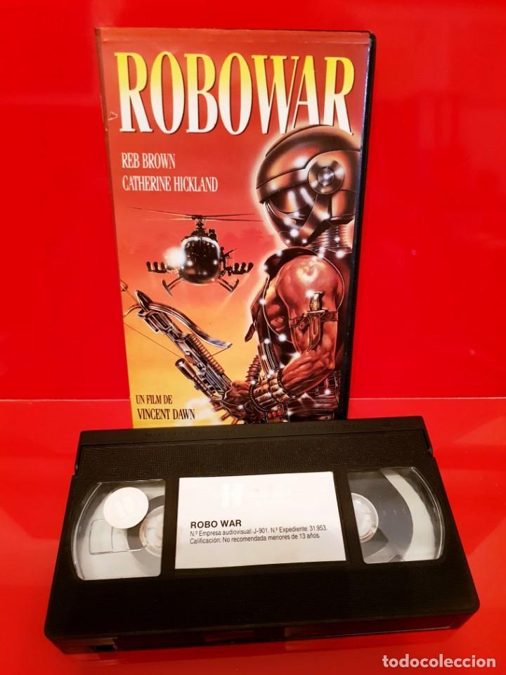 ROBOWAR (1988) D: BRUNO MATTEI - ROBOT DE GUERRA. RAREZA (Cine - Películas - VHS)