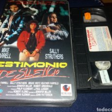 Cine: TESTIMONIO DE SILENCIO- VHS- DIR: JOHN PATTERSON. Lote 137851857