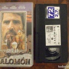Cine: LA BIBLIA SALOMON - ROGER YOUNG - BEN CROSS , ANOUK AIMEE , MAX VON SYDOW - METROVIDEO 1998. Lote 138607070