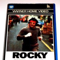 Cine: ROCKY (1976) - JOHN G. AVILDSEN SYLVESTER STALLONE TALIA SHIRE BURGESS MEREDITH VHS 1ª EDICIÓN. Lote 138738490