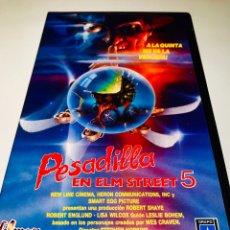 Cine: PESADILLA EN ELM STREET 5 VHS - STEPHEN HOPKINS - ROBERT ENGLUND. Lote 138927981