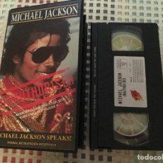 Cine: MICHAEL JACKSON SPEAKS UNAUTHORISED 1992 VHS KREATEN. Lote 139120410