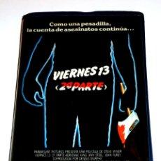 Cine: VIERNES 13 2ª PARTE (PARTE 2) (1981) - STEVE MINER BETSY PALMER AMY STEEL JOHN FUREY VHS 1ª EDICIÓN. Lote 139484278