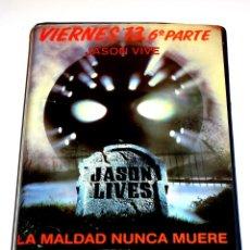 Cine: VIERNES 13 PARTE 6 : JASON VIVE (1986) - THOM MATHEWS JENNIFER COOK DAVID KAGEN VHS 1ª EDICION. Lote 139484322