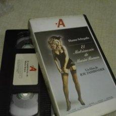 Cine: VHS CINE - VIDEO-A - 1984 - EL MATRIMONIO DE MARIA BRAUN - 350GR. Lote 140321034