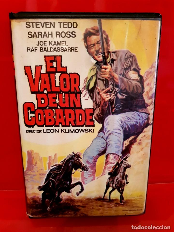 EL VALOR DE UN COBARDE - SPAGUETTI WESTERN - LEON KLIMOWSKY - UNICA EN TC (Cine - Películas - VHS)