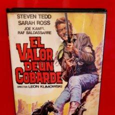 Cine: EL VALOR DE UN COBARDE - SPAGUETTI WESTERN - LEON KLIMOWSKY - UNICA EN TC. Lote 141732942