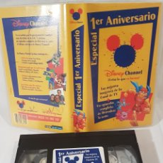 Cine: 1° ANIVERSARIO CANAL DISNEY CHANNEL VHS DIBUJOS ANIMADOS. Lote 142109878