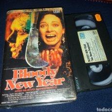 Cine: BLOODY NEW YEAR- AÑO NUEVO SANGRIENTO- VHS (UNICA EN TC). Lote 69419514