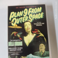 Cine: PLAN 9 FROM OUTER SPACE - PELICULA VHS ORIGINAL - BELA LUGOSI MAILA NURMI TOR JOHNSON ED WOOD. Lote 142654286