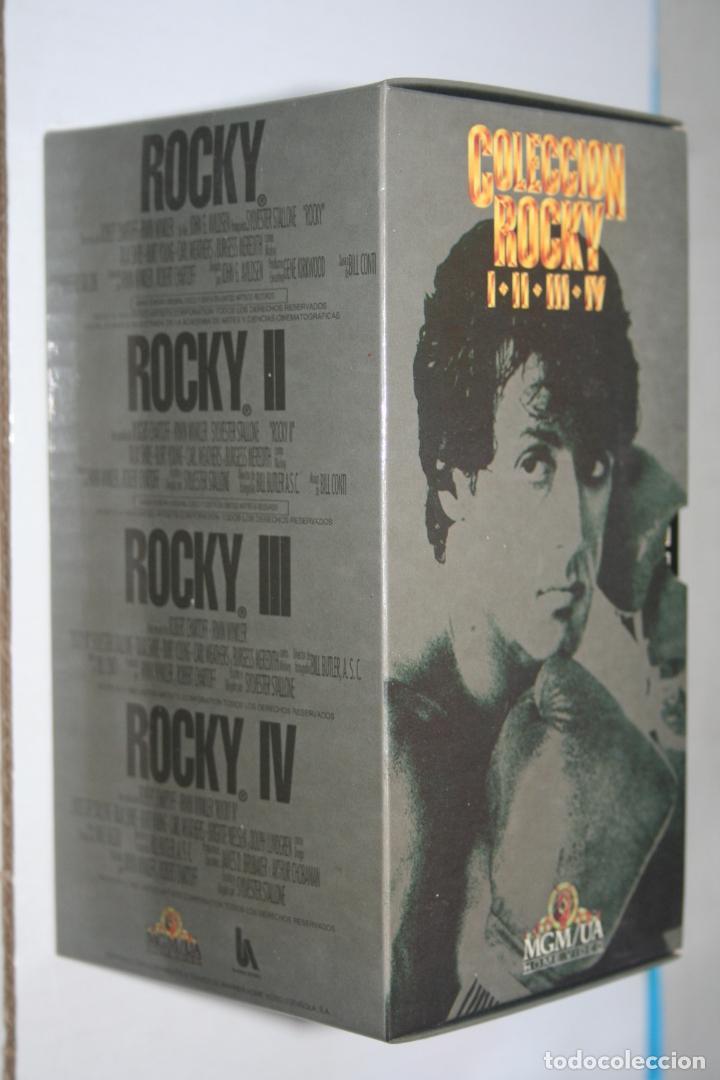 ROCKY *** COLECCIÓN COMPLETA 4 CINTAS VHS ACCION *** CAJA ORIGINAL *** METRO G MAYER (Cine - Películas - VHS)