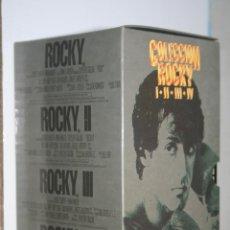 Cine: ROCKY *** COLECCIÓN COMPLETA 4 CINTAS VHS ACCION *** CAJA ORIGINAL *** METRO G MAYER. Lote 142707450
