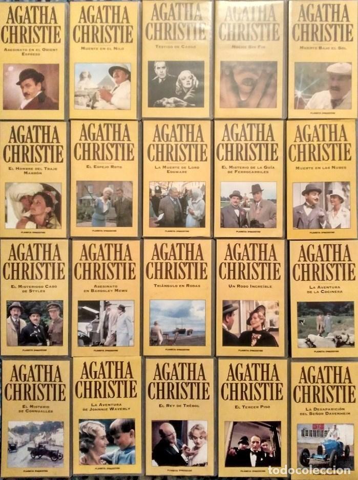 SERIE ''AGATHA CHRISTIE'' - COLECCIÓN COMPLETA DE 40 CAPÍTULOS (VHS) - PLANETA DEAGOSTINI (Cine - Películas - VHS)