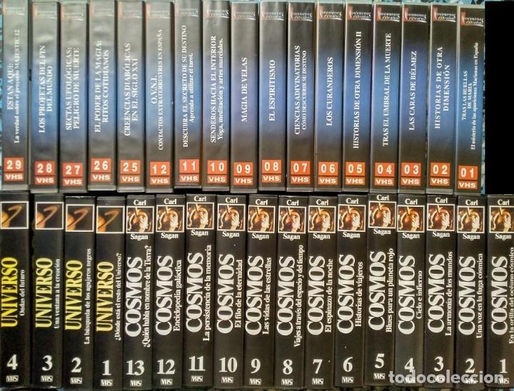 COLECCIÓN DE 65 DOCUMENTALES ''FENÓMENOS EXTRAÑOS'', ''COSMOS'' Y ''UNIVERSO'' (VHS) (Cine - Películas - VHS)