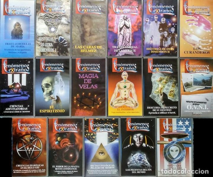 Cine: Colección de 65 documentales ''Fenómenos extraños'', ''Cosmos'' y ''Universo'' (VHS) - Foto 2 - 142833726