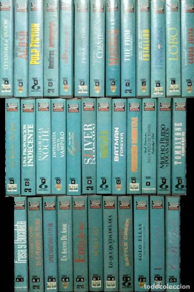 Cine: ''Los últimos éxitos del cine'' - Colección de 36 películas (VHS) - 1993-1999 - Foto 2 - 142833734