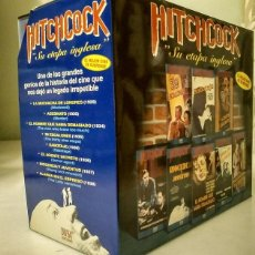 Cine: ''HITCHCOCK. SU ETAPA INGLESA'' - COLECCIÓN DE OCHO PELÍCULAS (VHS). Lote 143112190