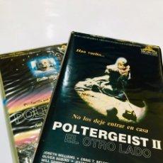 Cine: PACK POLTERGEIST + POLTERGEIST 2 II VHS - 1ª EDICIÓN - TODO ORIGINAL - 2 CINTAS - TERROR. Lote 143641725