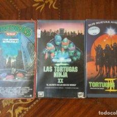 Cine: PELÍCULA. VHS, TRILOGÍA DE LAS TORTUGAS NINJAS. ORIGINALES, PRIMERAS EDICIONES. . Lote 143650586