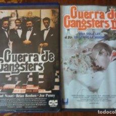 Cine: PELÍCULA. VHS, GUERRA DE GANGSTERS, Y GERRA DE GANGSTERS II. Lote 143651970