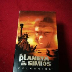 Cine: TRILOGIA EL PLANETA DE LOS SIMIOS EN VHS. Lote 144436061