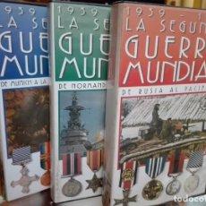 Cine: LA SEGUNDA GUERRA MUNDIAL 3 VIDEOS VHS. Lote 144774814
