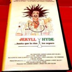 Cine: JEKYLL Y HYDE HASTA QUE LA RISA LOS SEPARE (1982) DIR:JERRY BELSON - MUY DESCATALOGADA PORT VIDEO. Lote 145146166